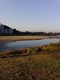 今日の渡良瀬川(2007年10月22日)