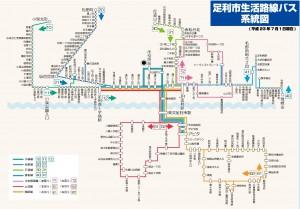 2011年7月1日生活路線バスダイヤ改正運行図