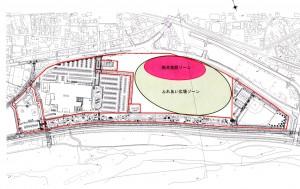 競馬場跡地東側粗イメージ図