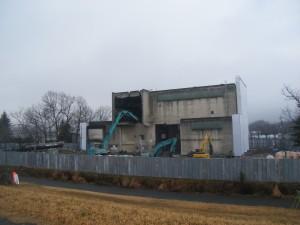 西部クリーンセンター解体中